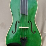 Green 5 String Violin