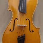 5 Stringed Golden Brown Asymmetric Viola