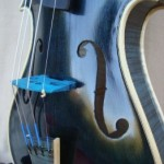 Dark Blue Topcorner Violin