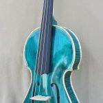 Blue Top Corner Violin