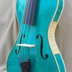 Blue 5 String Viola