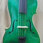 Green 5 String Violin