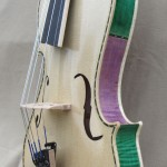 Purple and green 5 string violin