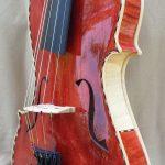 Red 5 String Violin